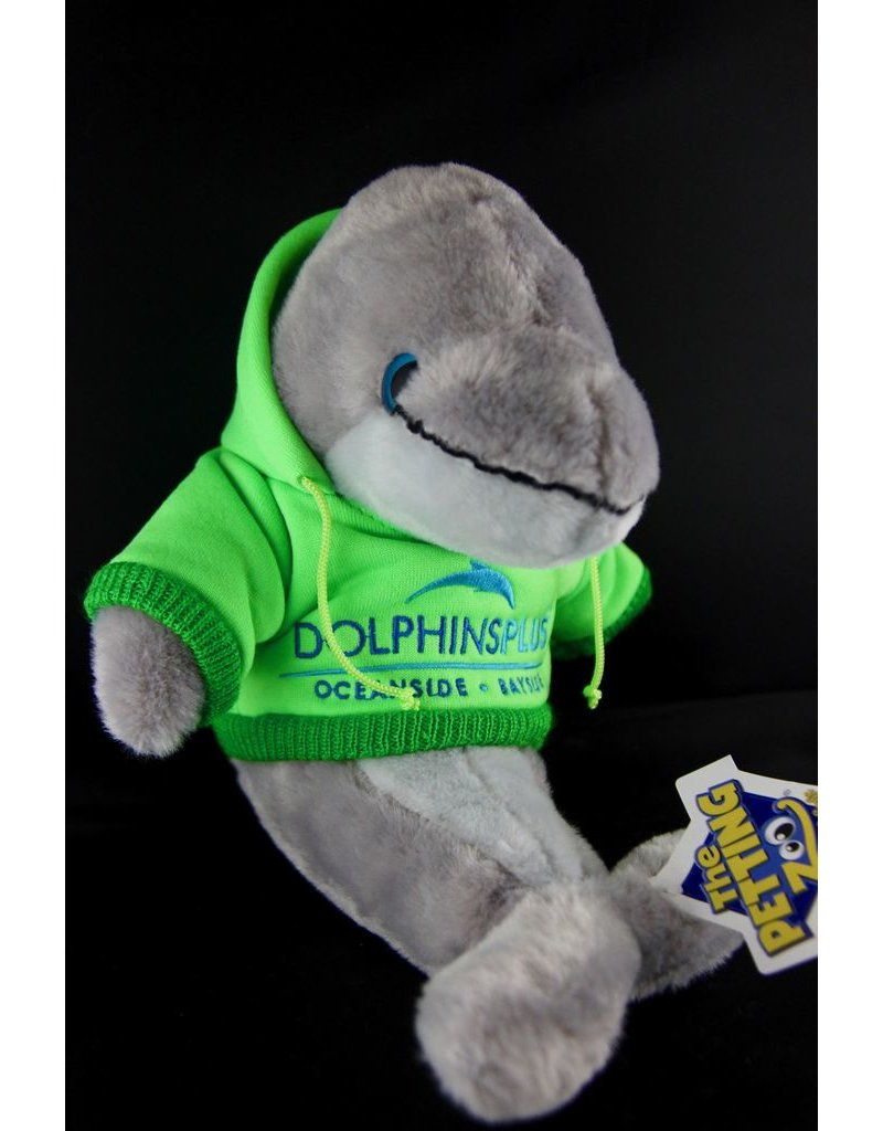 Toys & Plush Hoodie Dolphin-Lime with Blue Logo