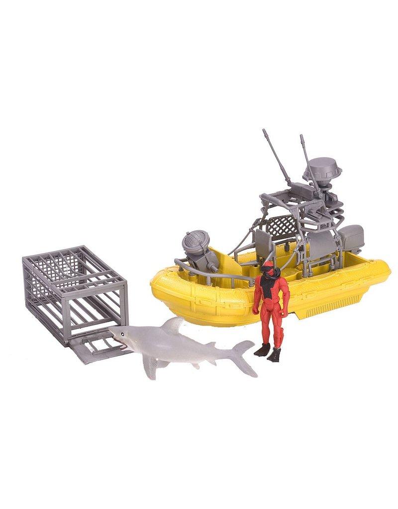Toys & Plush X Shark & Boat Playset