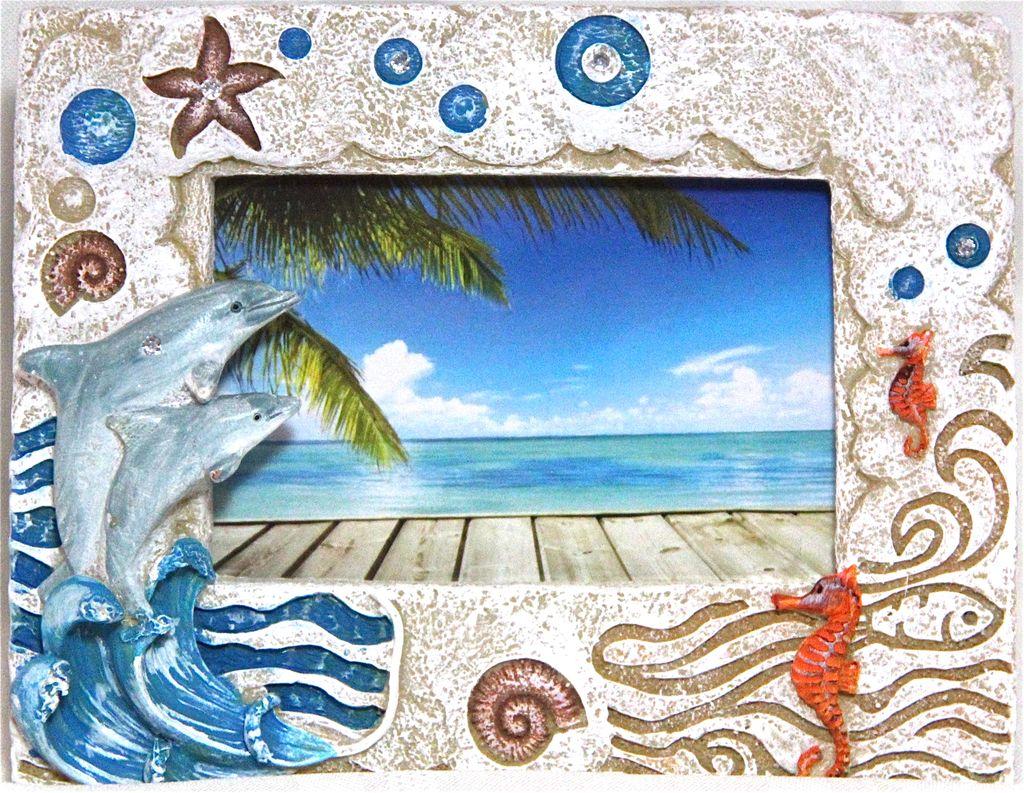 Souvenirs Stone Dolphin Frame - Dolphin Plus Bayside