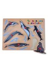 Toys & Plush Ocean Creatures Peg Puzzle