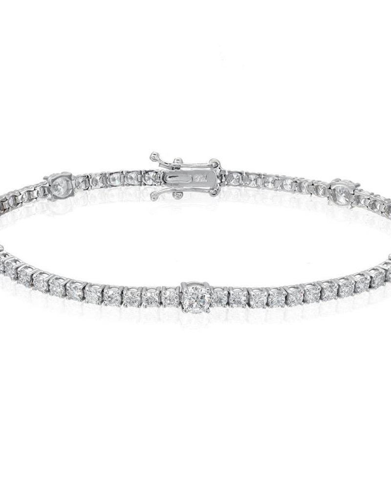 htm carat unique gold diamond bracelet p white