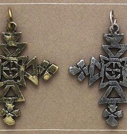 Bops Swap Cross Charm Silver