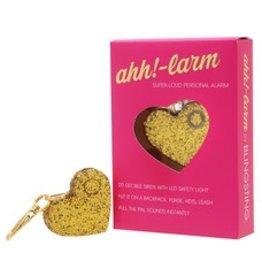 ahh!-larm!! Super Loud Personal Alarm Keychain  Gold