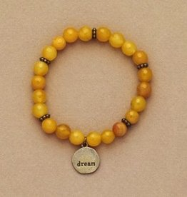"Bops Yellow Bead ""Dream"" Bracelet"