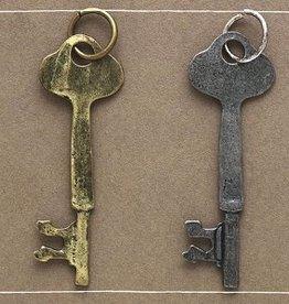 Bops Key Trinket Charm in Brass Finish