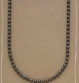Bops Gun Metal Foundational Ball Chain Necklace
