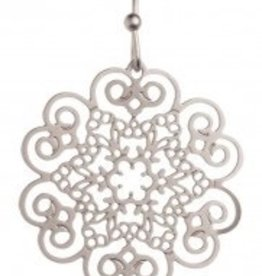 Silver Round Filigree Earring