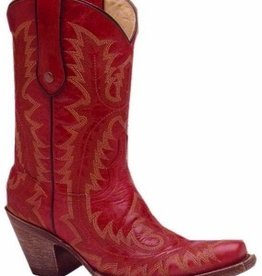 Corral Red Stitched Short Snipped Toe Boot G1900