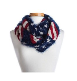 Stars and Stripes Knit Infinity Scarf