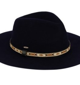 Felt Brimmed Fedora with Aztec Band