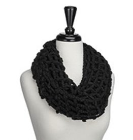 Occasionaly Made Black Box Weave Infinity Scarf