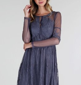 Nikibiki Lace and Dot Mesh Mix Dress
