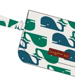Bungalow 360 Cotton Canvas Wristlet Whale Pattern