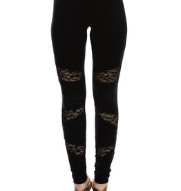 Vocal Lace Detail Black Pant