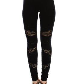 Vocal Lace Detail Black Pant