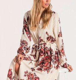 Miss Me Floral Escape Shirt Dress