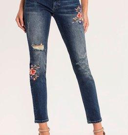 Miss Me Floral Wonder Mid Rise Ankle Skinny Jean