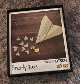 """Kitsch Letter """"Sincerely Yours"""" Necklace and Earring Set"""