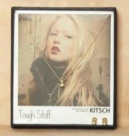 "Kitsch ""Tough Stuff"" Earring and Necklace Set Gold"