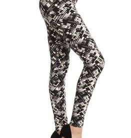 Zig Zag Print Leggings Skinny Buttery Soft ONE SIZE
