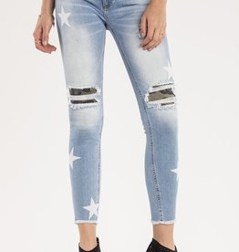 Miss Me At Attention Mid-Rise Ankle Skinny Jeans