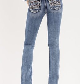Miss Me Cut It Close Mid-Rise Boot Cut Jeans