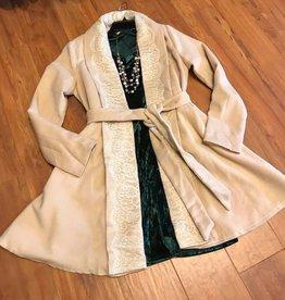 RYU Lace Trim Wrap Coat
