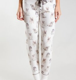Banded Lounge Pant with Dog Print