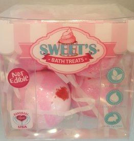 M.C. Sweets 4 Piece Mini Bath Bombs Cherry Blossom