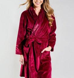 PJ Salvage Robe Silky Burgundy