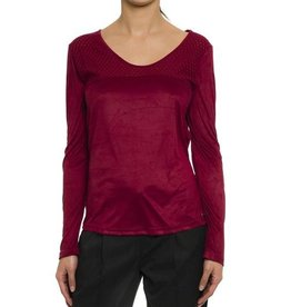 Smash! Codols Long Sleeve Faux Suede Top