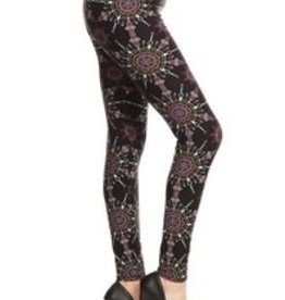 Snowflake Print Legging Buttery Soft ONE SIZE