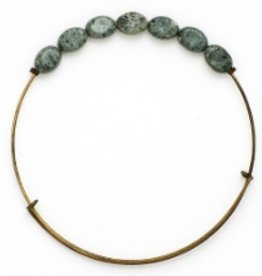 Bops Bangle Serpentine Oval Stone Wire Bangle Bracelet