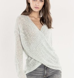 Miss Me Loose Knit Cross Front Sweater