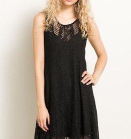 Hem & Thread Lace Mix A-Line Dress