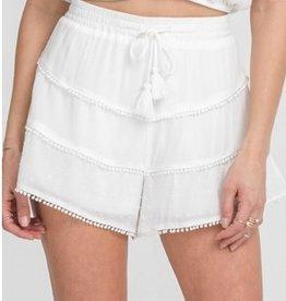 Woven Ruffle Shorts
