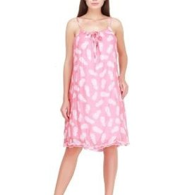 Gauze Dress with Pineapple Print