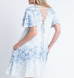 Vocal Lace Up Back Dress