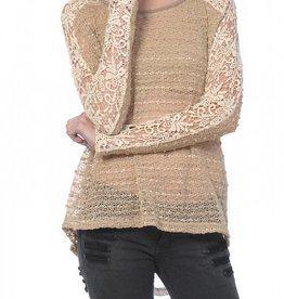 A'Reve Crochet Top with Chiffon Back