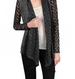 A'Reve Cardigan with Flower Front Detail