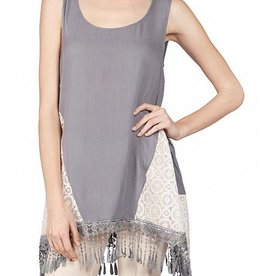 A'Reve Sheer Tank Top with Side Lace