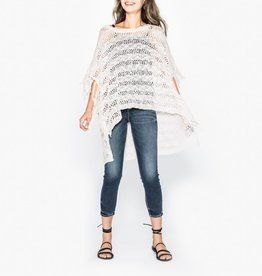 Silver Jeans Co. SIERRA Poncho Sweater with Fringe