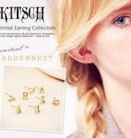 Kitsch Initial Earrings