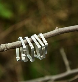 "Elly Preston ""Vines""<br /> SIlver Wrap Ring with Beads"