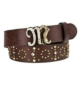 Miss Me Girls Pebble Grain Studded Belt MM7824B