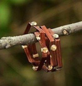 "Elly Preston ""Vines""<br /> Bronze Wrap Ring with Crystals"