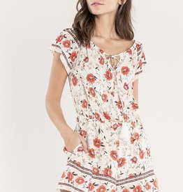 Miss Me Off the Shoulder Floral Getaway Romper