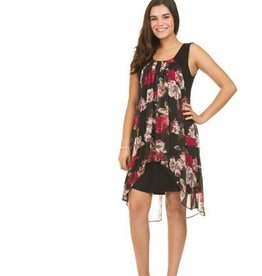 Floral Georgette Overlay Dress