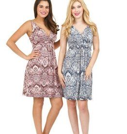 Paisley Print Grecian Dress