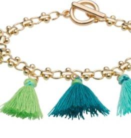 Tiny Tassel Bracelet Turquoise